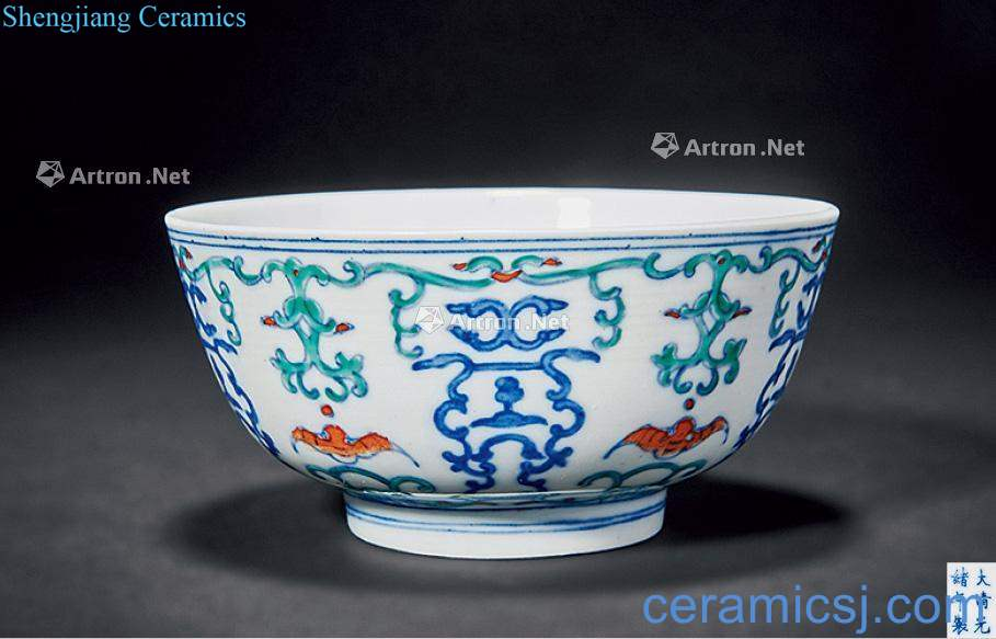 The bucket color bowl reign of qing emperor guangxu